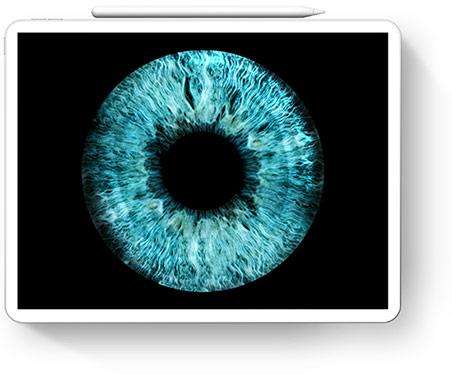 Irisfoto als digitale Datei
