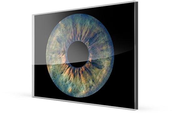 Irisfoto auf Acrylglas