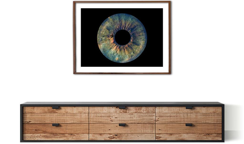 Irisfoto als Geschenk für Zuhause