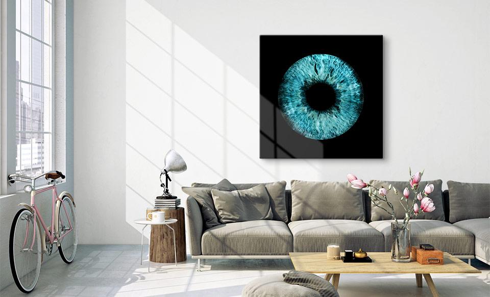 Irisfoto als Wandbild